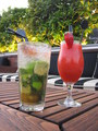 Mojito and Strawberry Daiquiri.