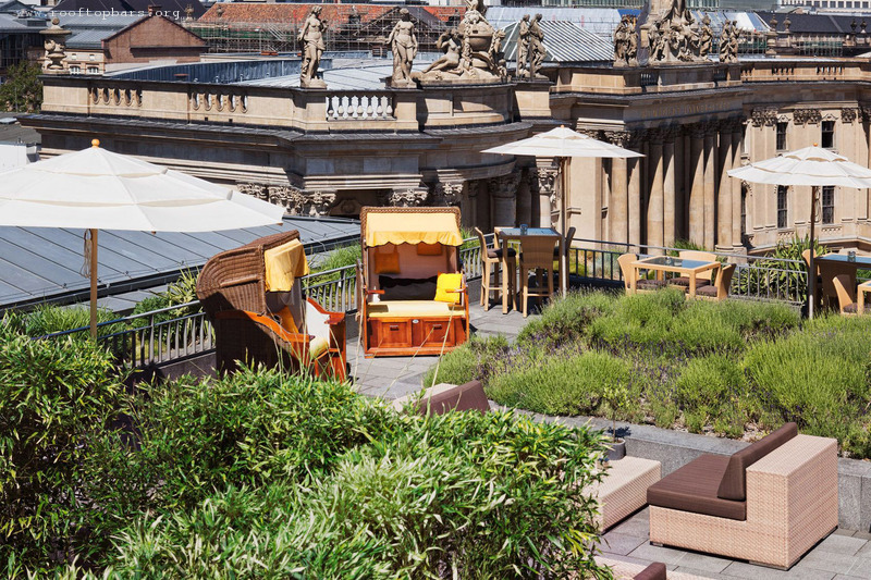 Roof terrace, Hotel de Rome, Berlin