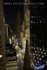5th Avenue at night as seen from the rooftop bar.
