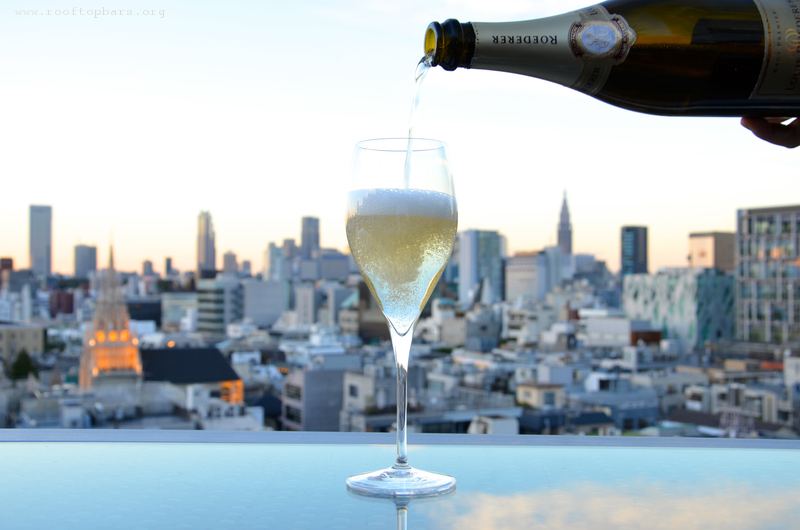 Champagne at the terrace